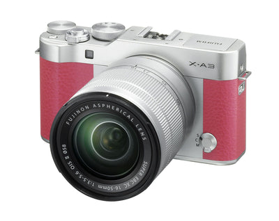 Fujifilm X-A3 Pink Digital Camera with XC 16-50mm f3.5-5.6 Lens, camera mirrorless cameras, Fujifilm - Pictureline  - 3