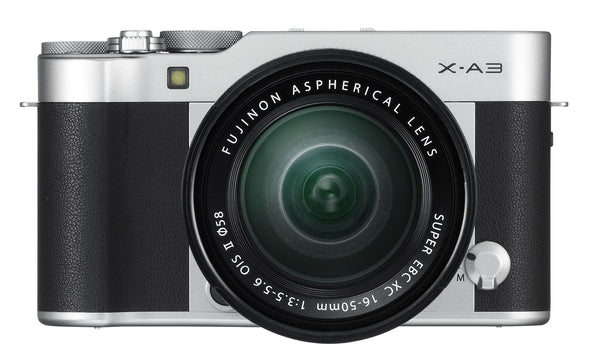Fujifilm X-A3 Silver Digital Camera with XC 16-50mm f3.5-5.6 Lens, camera mirrorless cameras, Fujifilm - Pictureline  - 1