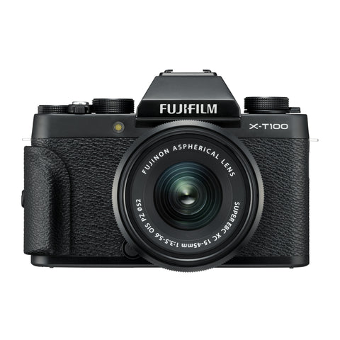 Fujifilm X-T100 Body with XC 15-45mm OIS PZ Lens Kit (Black)
