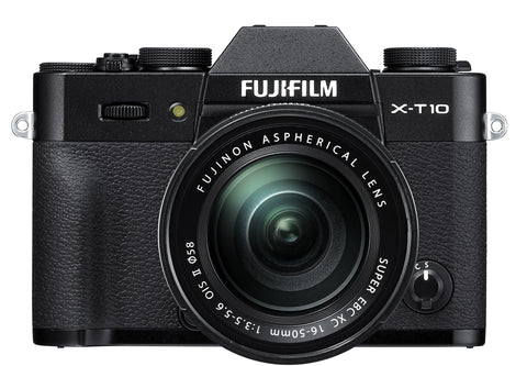 Fujifilm X-T10 Kit w/XC 16-50mm & XC 50-230mm Lens (Black), camera mirrorless cameras, Fujifilm - Pictureline  - 1