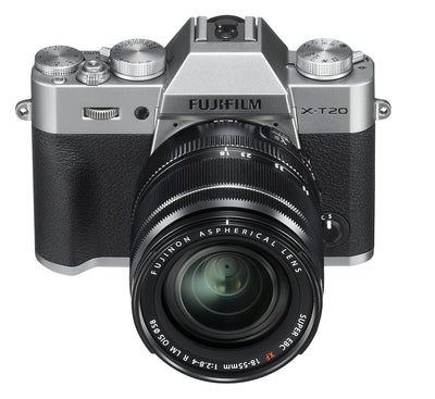Fujifilm X-T20 Body with XF 18-55mm Lens Kit (Silver), camera mirrorless cameras, Fujifilm - Pictureline  - 1
