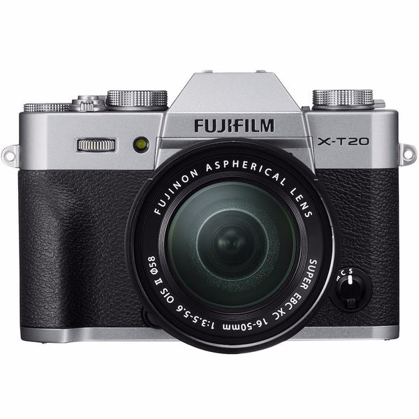 Fujifilm X-T20 Body with XC 16-50mm Lens Kit (Silver), camera mirrorless cameras, Fujifilm - Pictureline  - 1