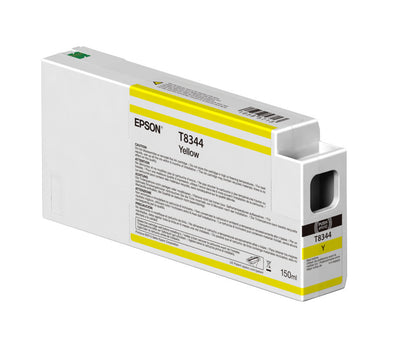 Epson T834400 P6000/P7000/P8000/P9000 Ultrachrome HD Ink 150ml Yellow, papers ink large format, Epson - Pictureline