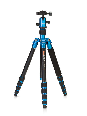 MeFOTO RoadTrip Travel Tripod Kit (Blue), tripods travel & compact, MeFOTO - Pictureline  - 1
