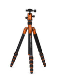 MeFOTO RoadTrip Travel Tripod Kit (Orange), tripods travel & compact, MeFOTO - Pictureline  - 1