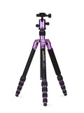 MeFOTO RoadTrip Travel Tripod Kit (Purple), tripods travel & compact, MeFOTO - Pictureline  - 1