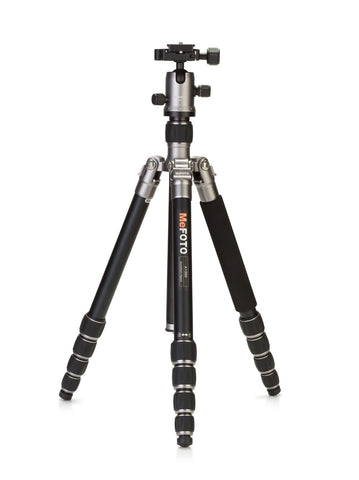 MeFOTO RoadTrip Travel Tripod Kit (Titanium), tripods travel & compact, MeFOTO - Pictureline  - 1