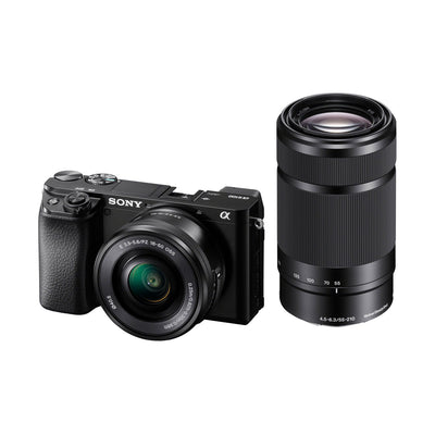 Sony Alpha a6100 Mirrorless Digital Camera with E-Mount 16-50mm & 55-210mm Lenses
