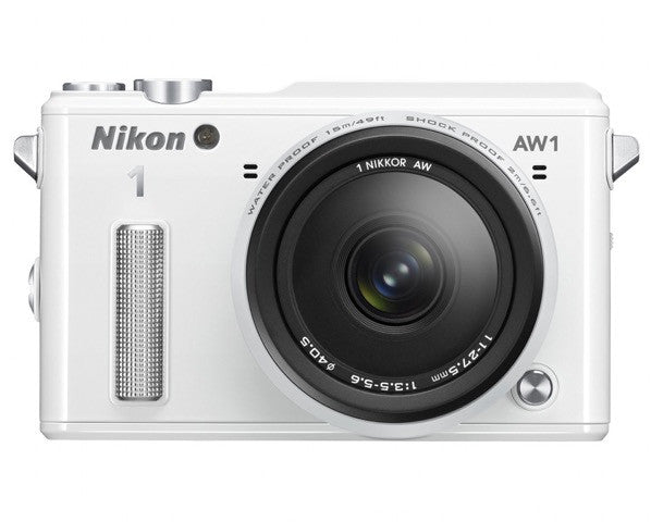 Nikon 1 AW1 Waterproof Digital Camera with AW 11-27.5mm Lens (White), discontinued, Nikon - Pictureline  - 1