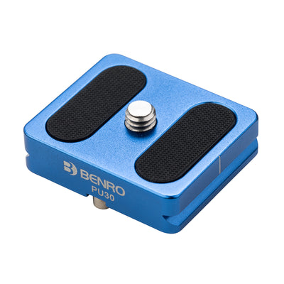 Benro PU30 Arca-Swiss Style Quick Release Plate (Blue)