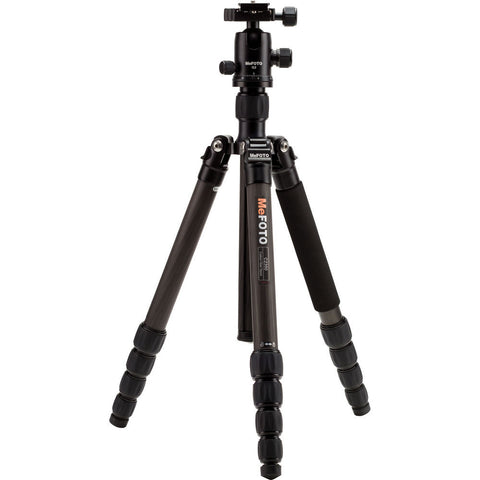 MeFOTO GlobeTrotter Carbon Fiber Travel Tripod Kit (Black), tripods travel & compact, MeFOTO - Pictureline  - 1