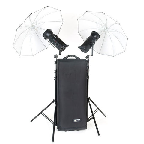 Bowens Gemini 500R 2 Head Umbrella Kit, lighting studio flash, Bowens - Pictureline  - 1