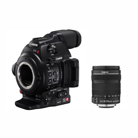 Canon EOS C100 Mark II Dual Pixel AF EF-S 18-135mm Kit, video cinema cameras, Canon - Pictureline  - 1