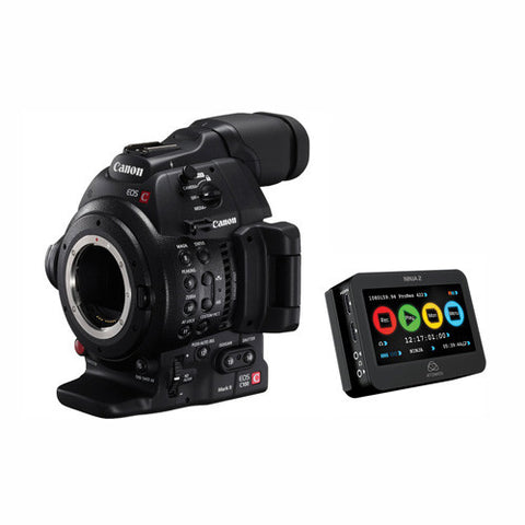 Canon EOS C100 Mark II Dual Pixel AF Atomos Ninja 2 Kit, video cinema cameras, Canon - Pictureline  - 1
