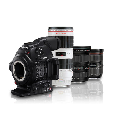 Canon EOS C100 Mark II Dual Pixel AF Triple Lens Kit (16-35mm f2.8L, 24-70mm f2.8L, 70-200mm f2.8L), video cinema cameras, Canon - Pictureline  - 1