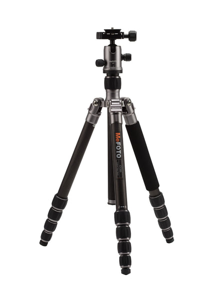 MeFOTO RoadTrip Carbon Fiber Travel Tripod Kit (Titanium), tripods travel & compact, MeFOTO - Pictureline  - 1