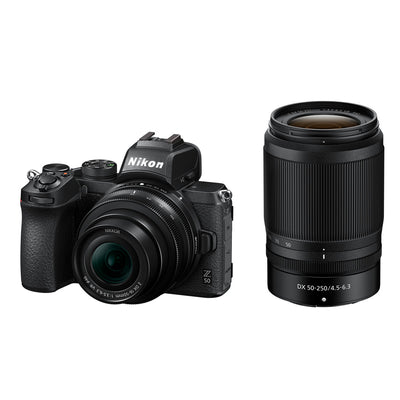 Nikon Z50 Mirrorless Digital Camera with 16-50mm & 50-250mm Lens