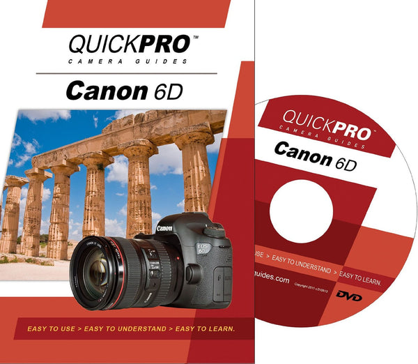 QuickPro Camera Guides Canon 6D DVD, camera books, QuickPro Guides - Pictureline