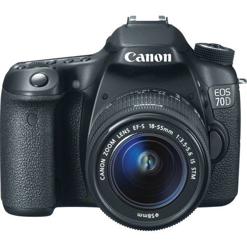 Canon EOS 70D DSLR Camera with 18-55mm STM f/3.5-5.6 Lens, discontinued, Canon - Pictureline  - 1