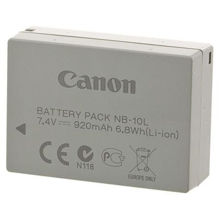 Canon NB-10L Battery Pack, camera batteries & chargers, Canon - Pictureline