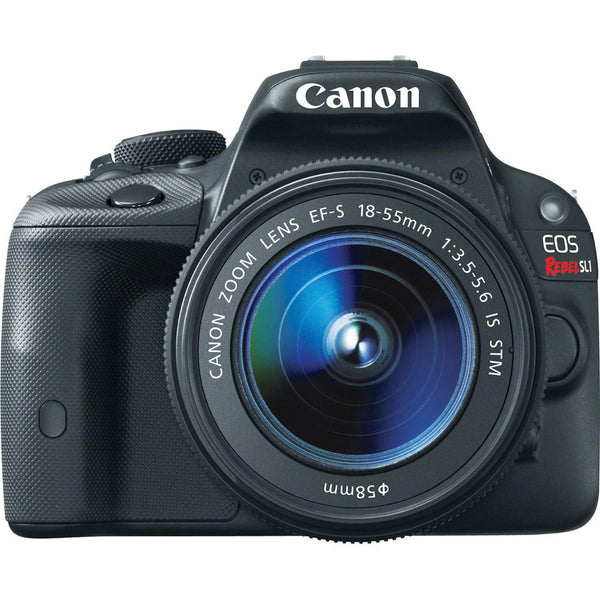 Canon EOS Rebel SL1 DSLR Camera with EF-S 18-55mm IS STM Lens (Black), discontinued, Canon - Pictureline  - 1