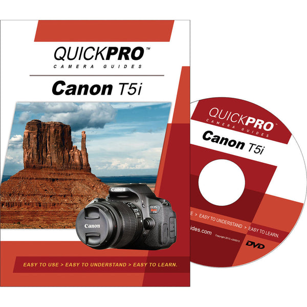 QuickPro Camera Guides Canon Rebel T5i DVD, camera books, QuickPro Guides - Pictureline