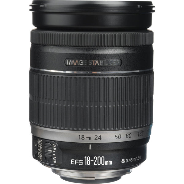 Canon EF-S 18-200mm f3.5-5.6 IS Lens, lenses slr lenses, Canon - Pictureline  - 1