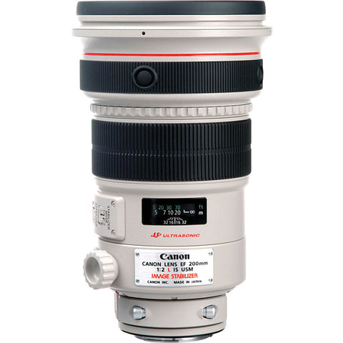Canon EF 200mm f2L IS USM Lens, lenses slr lenses, Canon - Pictureline  - 1