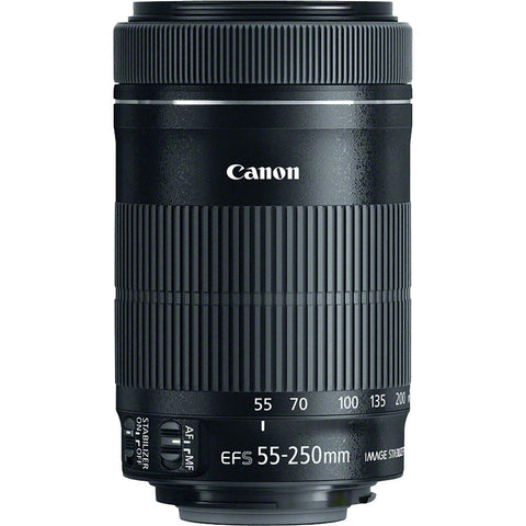 Canon EF-S 55-250mm f/4-5.6 IS STM Telephoto Zoom Lens, lenses slr lenses, Canon - Pictureline  - 1