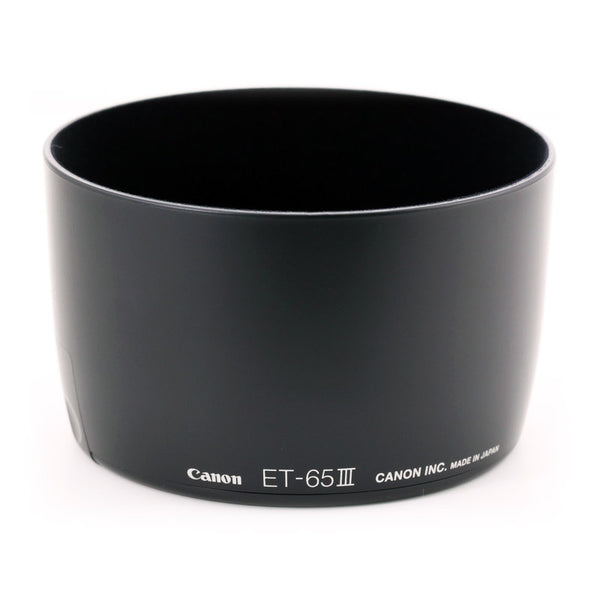 Canon ET-65III Lens Hood for EF 85mm f/1.8, 100mm f/2.0, 135mm f/2.8 SF, and 100-300mm f/4.5-5.6 Lenses, lenses hoods, Canon - Pictureline