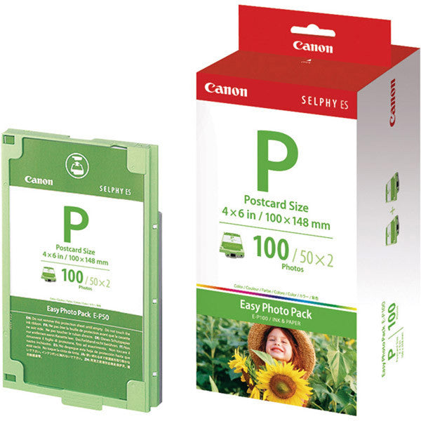 "Canon EP-100 4x6"" Easy Photo Pack (100 Sheets), papers sheet paper, Canon - Pictureline"