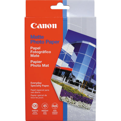 "Canon Matte Photo Paper 4x6"" (120 Sheets), papers sheet paper, Canon - Pictureline"