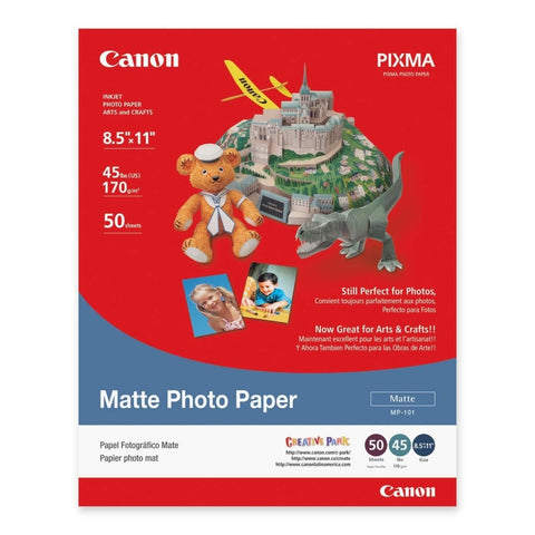 "Canon Matte Photo Paper 8.5x11"" (50 Sheets), papers sheet paper, Canon - Pictureline"