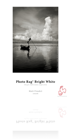 "Hahnemuhle Photo Rag Bright White 310 gsm 8.5""""x11"""" 25, papers sheet paper, Hahnemuhle - Pictureline"