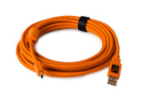 Tether Tools TetherPro USB 2.0 Male to Mini-B 5 pin, 15', Hi-Visibility Orange, camera tethering, Tether Tools - Pictureline  - 1