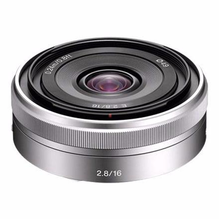 Sony 16mm f/2.8 E-Mount Pancake Lens (Silver), lenses mirrorless, Sony - Pictureline
