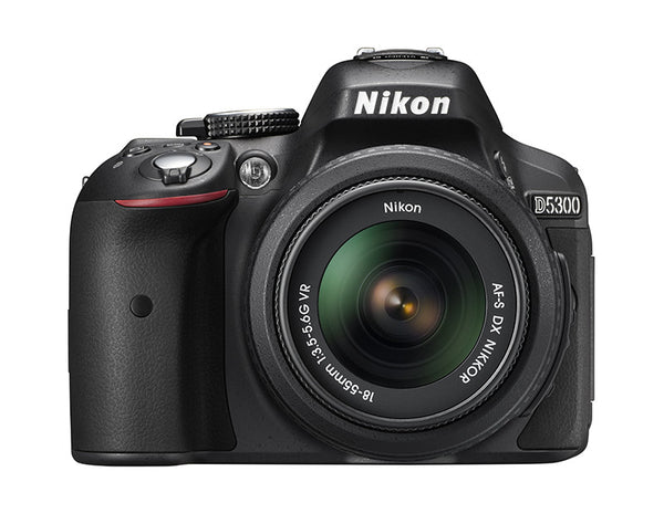 Nikon D5300 DX Digital SLR Camera w/ 18-55mm DX VR II Lens Black, discontinued, Nikon - Pictureline  - 1