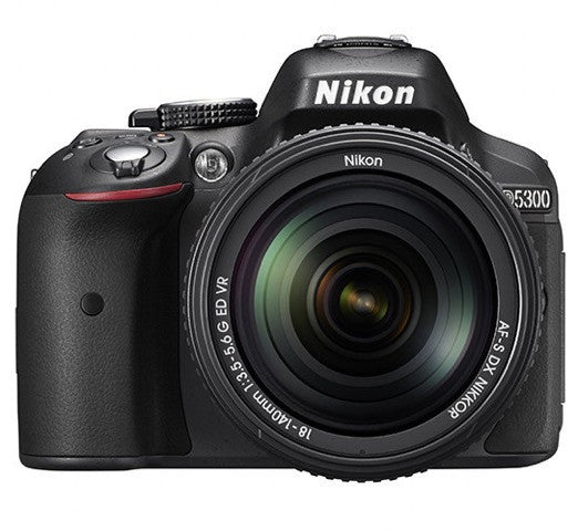 Nikon D5300 DX Digital SLR Camera w/ 18-140mm VR Lens Black, discontinued, Nikon - Pictureline  - 1