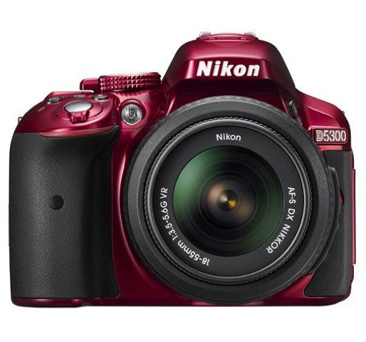 Nikon D5300 DX Digital SLR Camera w/ 18-55mm DX VR II Lens Red, discontinued, Nikon - Pictureline  - 1