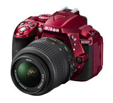 Nikon D5300 DX Digital SLR Camera w/ 18-55mm DX VR II Lens Red, discontinued, Nikon - Pictureline  - 2