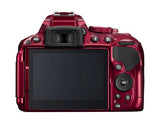 Nikon D5300 DX Digital SLR Camera w/ 18-55mm DX VR II Lens Red, discontinued, Nikon - Pictureline  - 3
