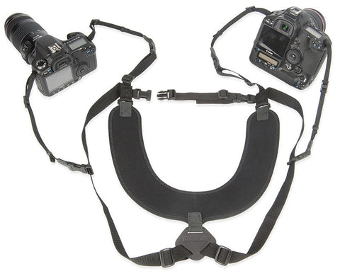 OP/TECH Dual Harness, Regular, 3/8', Black, camera straps, OP/TECH - Pictureline  - 1