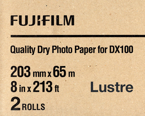 "Fuji DX100 Paper Lustre 8""x213' (2-Pack), papers roll paper, Fujifilm - Pictureline"