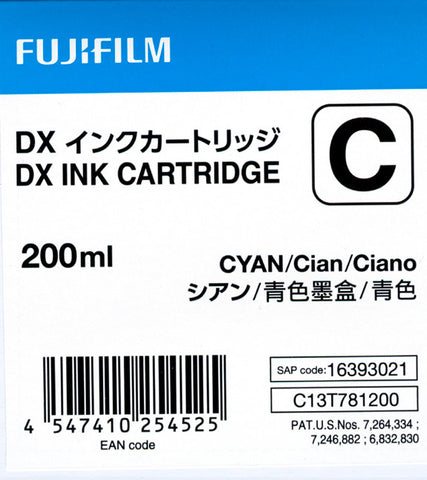 Fuji DX100 Ink Cartridge Cyan, printers ink small format, Fujifilm - Pictureline