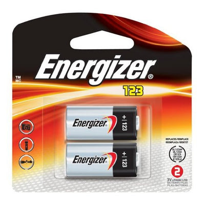 Energizer 123 Photo Battery (2 Pack), camera batteries & chargers, Energizer - Pictureline