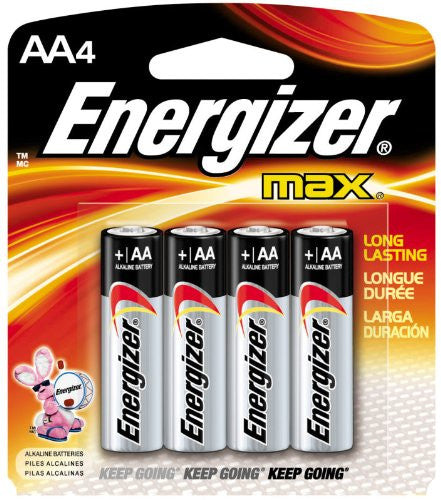Energizer Max AA Alkaline Batteries (4 Pack), camera batteries & chargers, Energizer - Pictureline