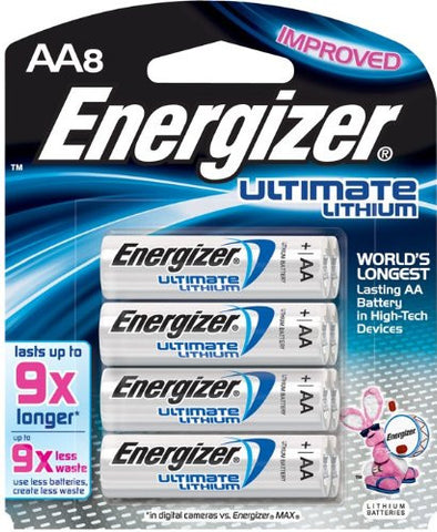 Energizer Ultimate Lithium AA  Batteries (8 Pack), camera batteries & chargers, Energizer - Pictureline