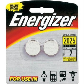 Energizer 3V CR2025 Coin Cell Battery 2pk, camera batteries & chargers, Energizer - Pictureline