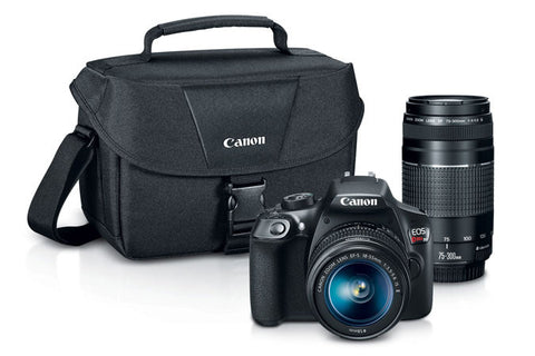 Canon EOS Rebel T6 18-55mm + 75-300mm + Bag Kit, camera dslr cameras, Canon - Pictureline  - 1