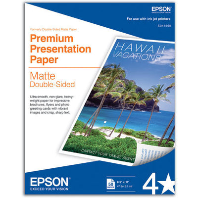 Epson Premium Presentation Double Sided Matte 8.5x11 Paper (50), papers sheet paper, Epson - Pictureline